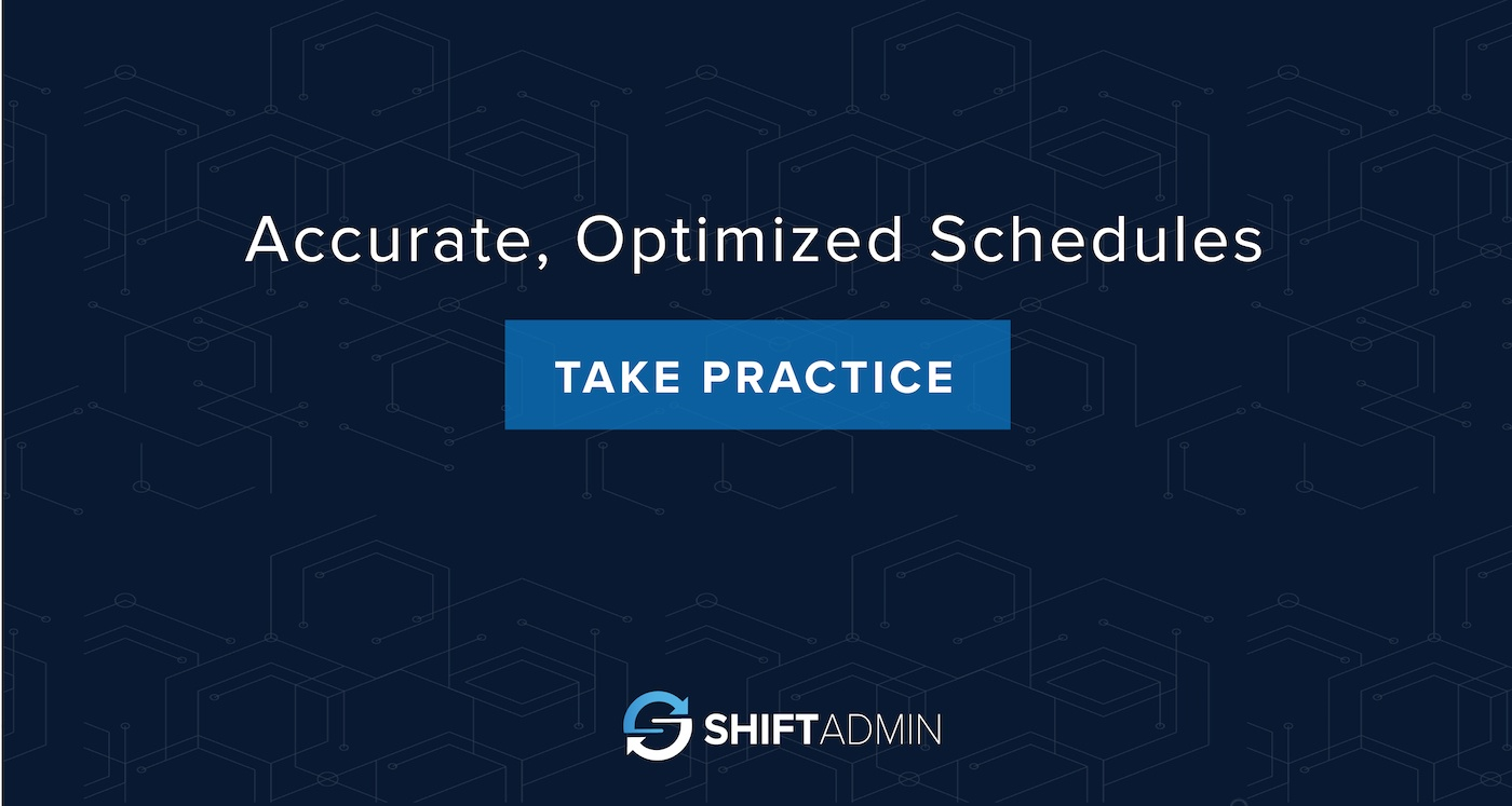Accurate, Optimized Schedules Take Practice